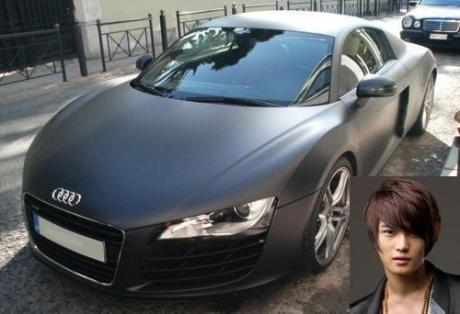 Carros de las estrellas: El carro de Jaejoong es un súper carro? ¬¬? Audik